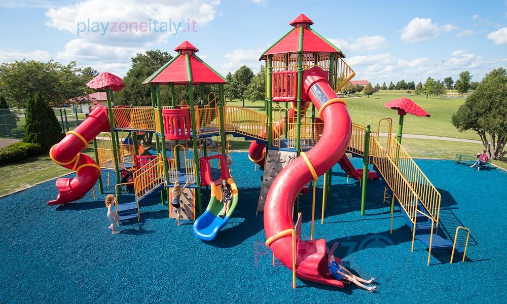 PlayGround costruito su asfalto